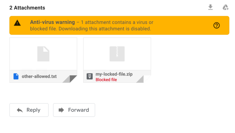 Gmail - downloading this attachment is disabled
